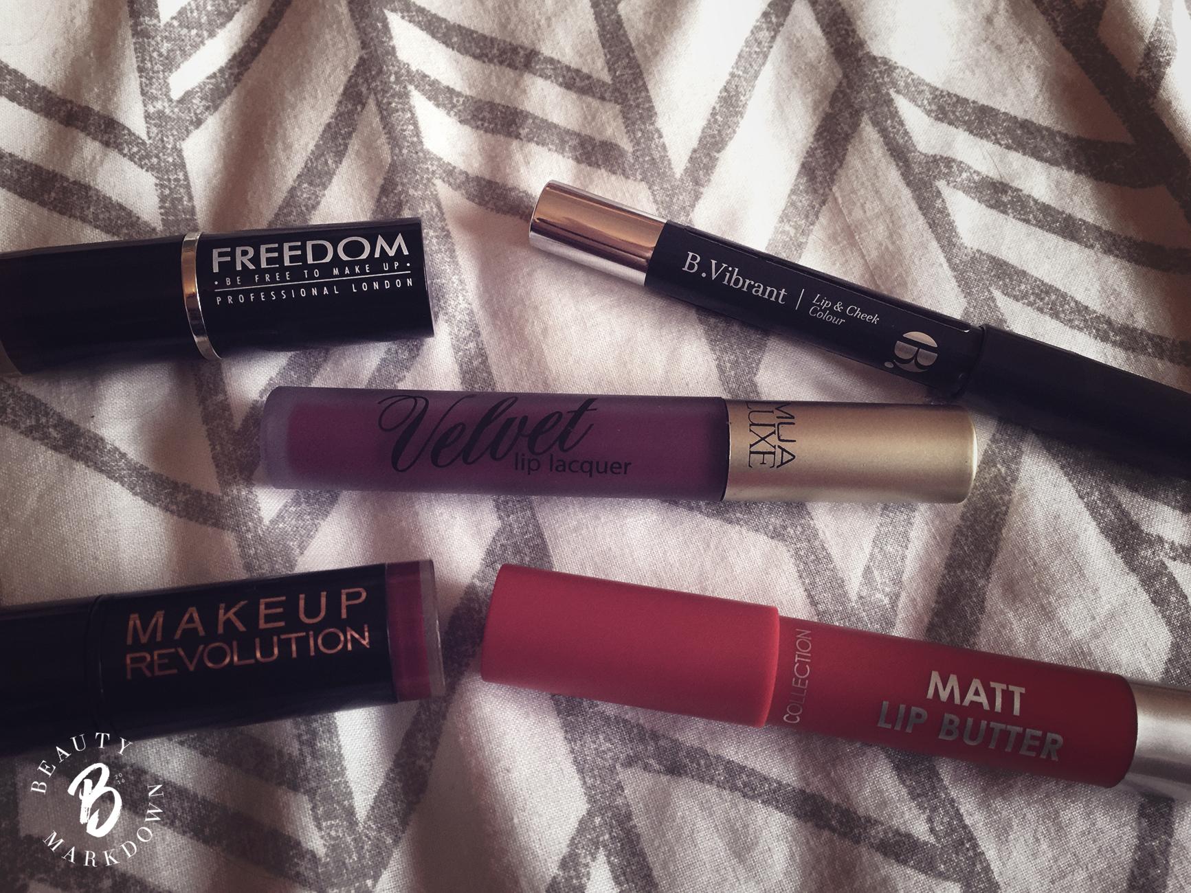 budget lipsticks