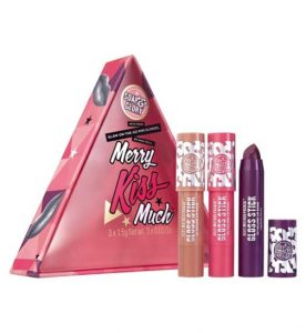 Soap & Glory™ Merry Kiss Much™ - Costs £8, worth £10 - 24% saving. - Actually costs £1 more than buying the Lip Sticks on the Soap and Glory 3 for 2 deal.