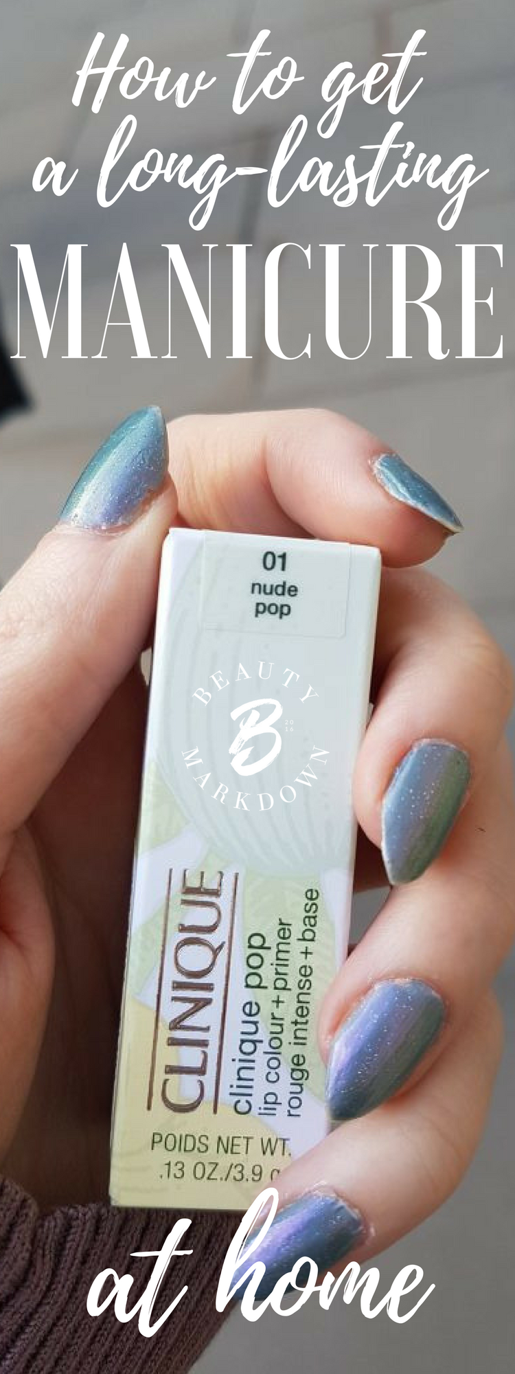 How to stop your polish chipping and get a long lasting manicure at home on natural nails. No lamps or special equipment required!