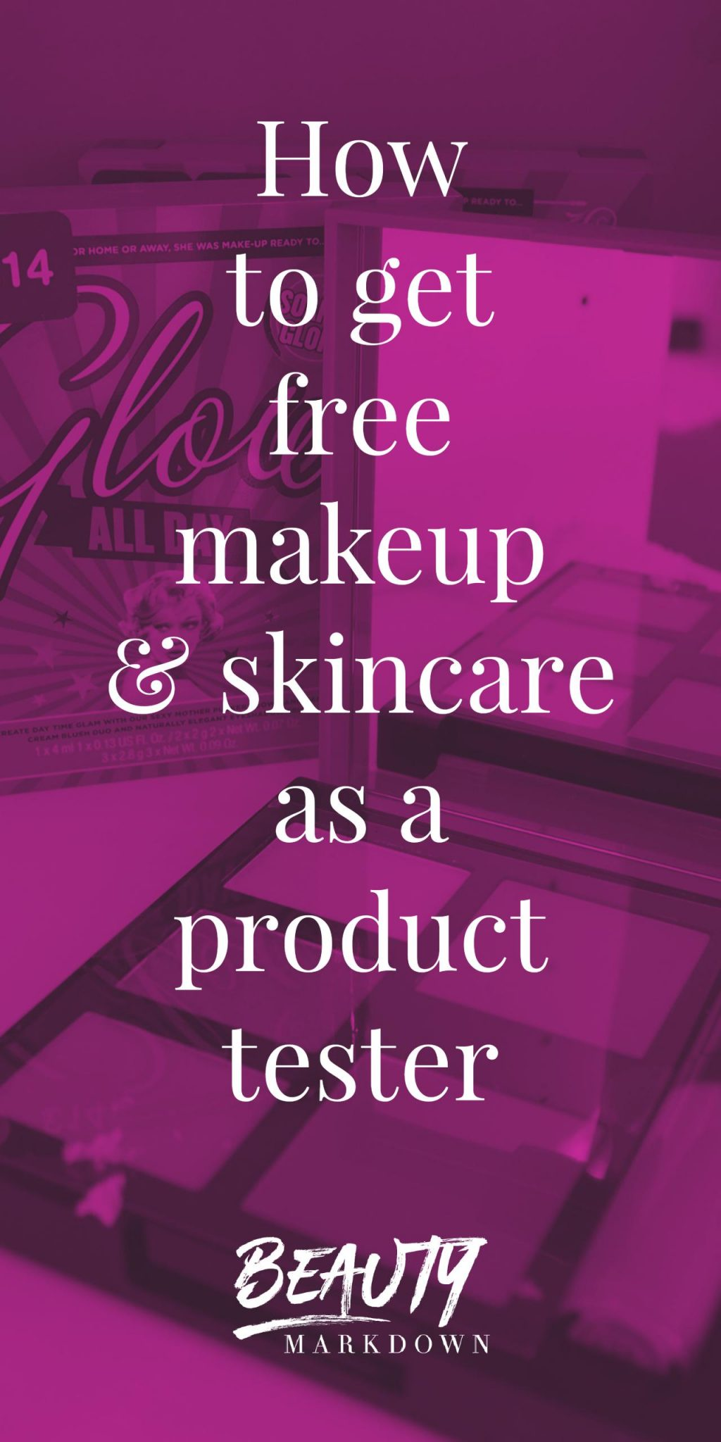 How you can get free beauty products, makeup and skincare just for being a guinea pig. Beauty obsessives on a budget are going to LOVE this.