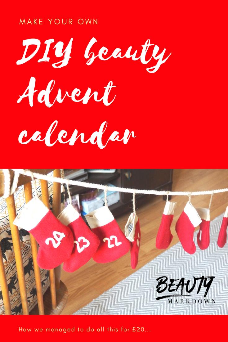 Make your own Beauty Advent calendar DIY