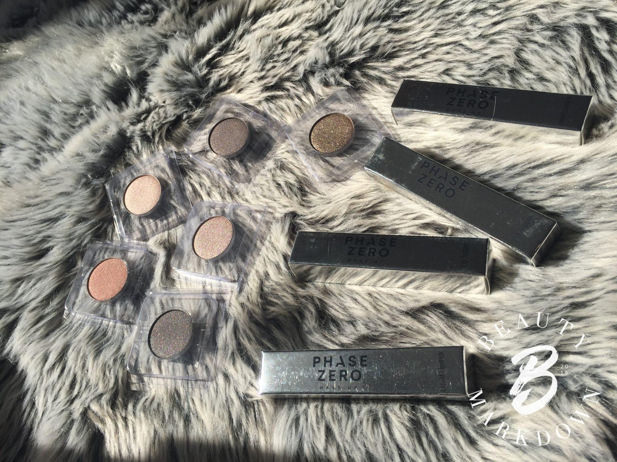 phase zero boxed lipsticks and eye shadows