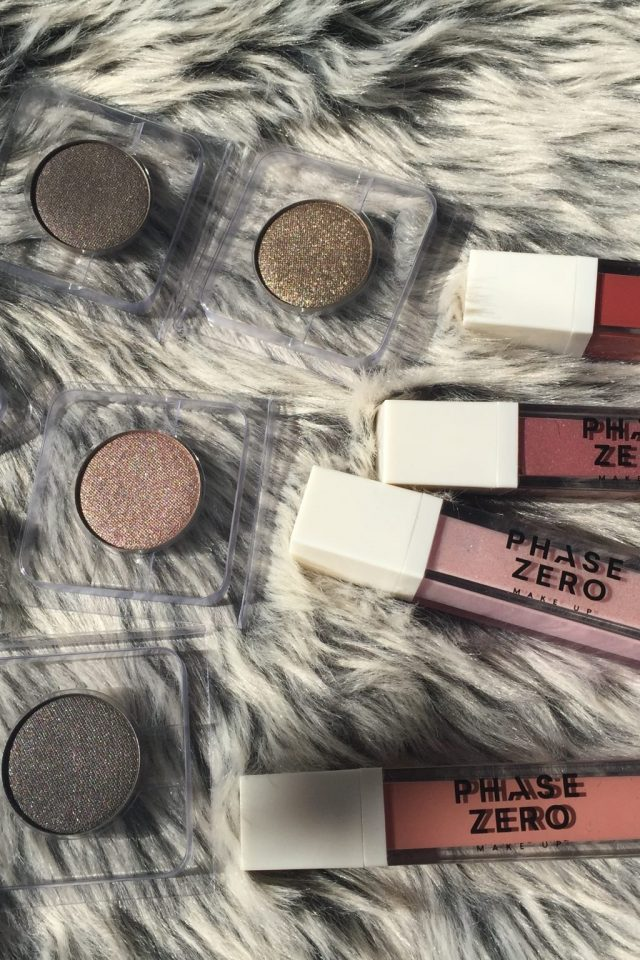 phase zero lipsticks unboxed and eye shadows