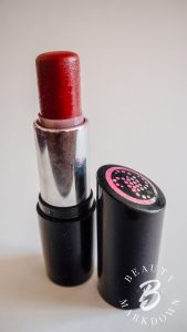 Collection lipstick, purchased in approximately 2011, heavily used.