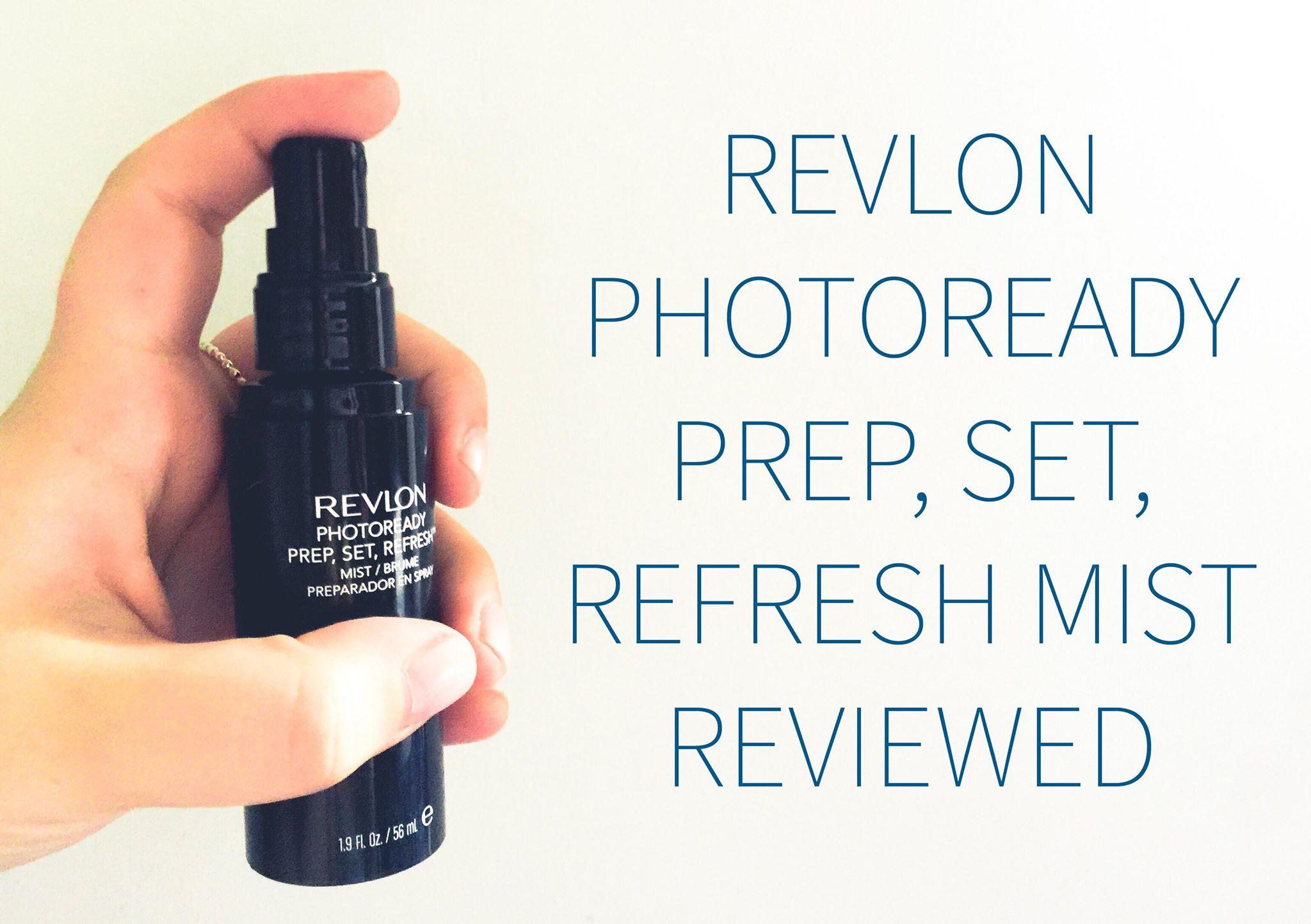 revlon prep set refresh mist reviewed