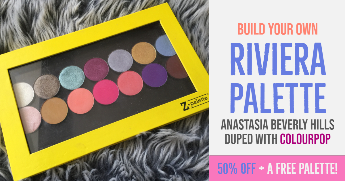 Riviera dupe palette with Colourpop shadows