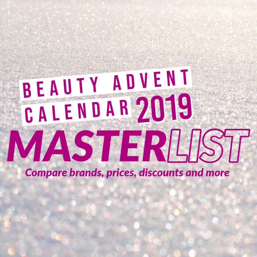 beauty advent calendar 2019 masterlist