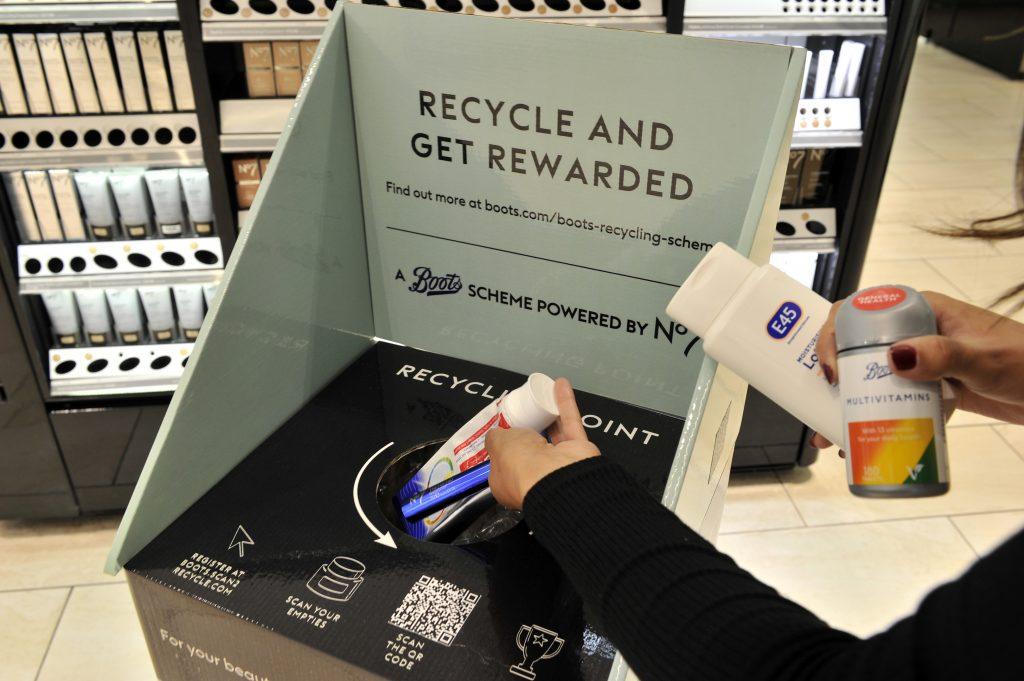 Boots recycle vouchers advantage card